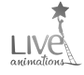 Live Animations Logo BW